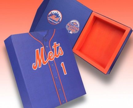 New York Mets Ticket Box - a creative packaging solution produced by Cedar Packaging