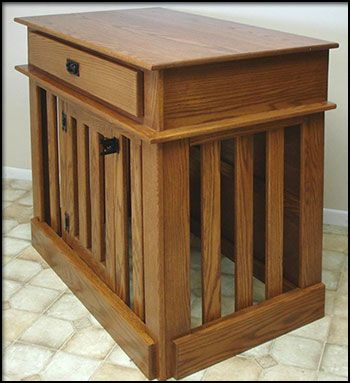 27 best Wooden Dog Crates images on Pinterest