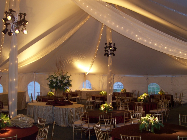 Century Pole Tent - crystal organza, bee lights & pinspots - beautiful!