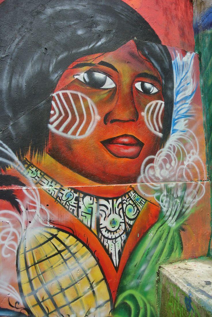 Street Art Mural in Comuna 13, Medellín, Colombia