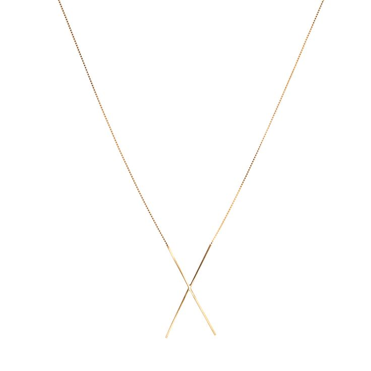 X-collection / neck / gold www.maleneglintborg.com