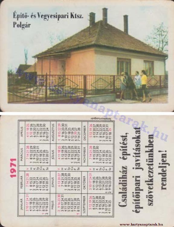 1971 - 1971_0573 - Régi magyar kártyanaptárak