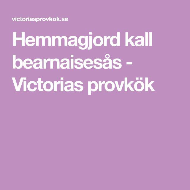 Hemmagjord kall bearnaisesås - Victorias provkök