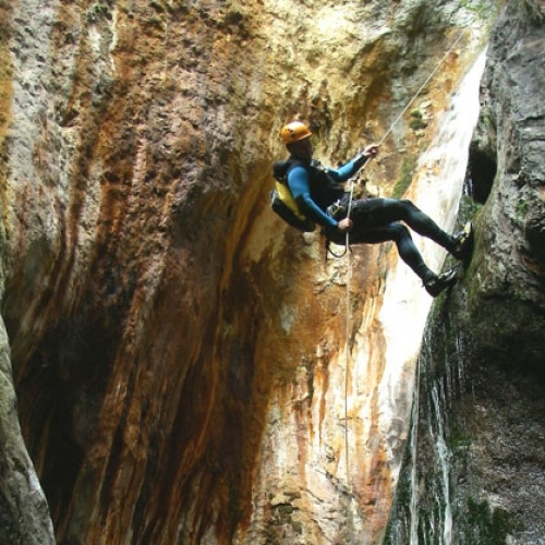 """Multi activity adventure holiday in the Pyrenees. An adrenaline fuelled week of """"real"""" activities - paragliding, canyoning, rafting, hiking, biking, caving, climbing, via ferrata and more!"""