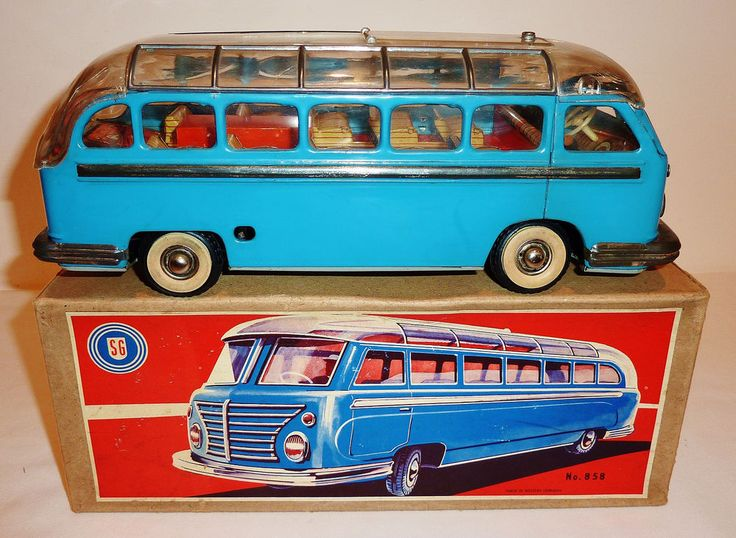 34 best the anthropomorphic train that could images on pinterest gunthermann western germany tin litho wind up bus 858 with box 1125 fandeluxe Gallery