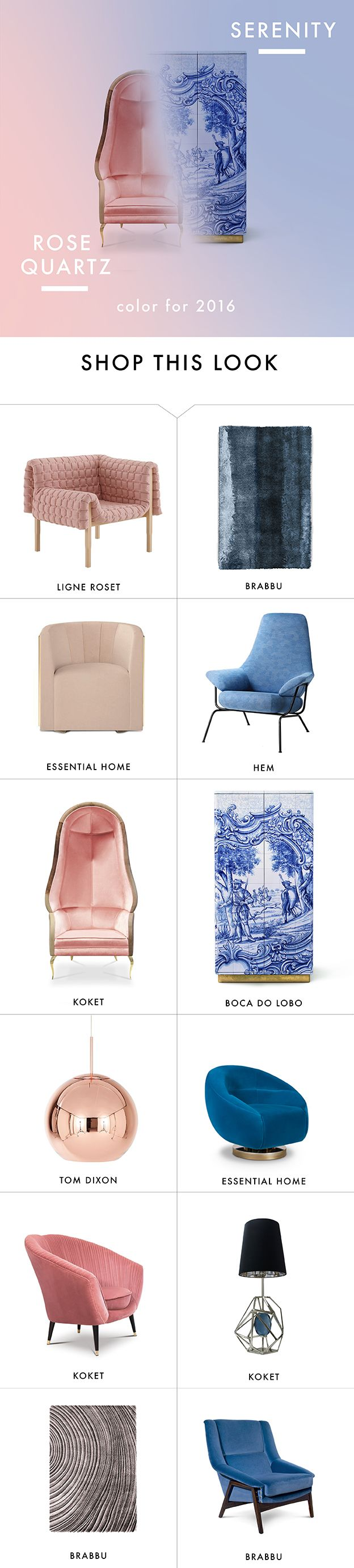 Pantone Color 2016 Rose Quartz and Serenity Blue http://inspirationdesignbooks.com/infographic/