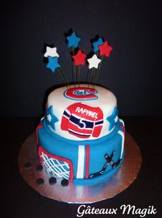 Gâteau thème hockey Canadiens