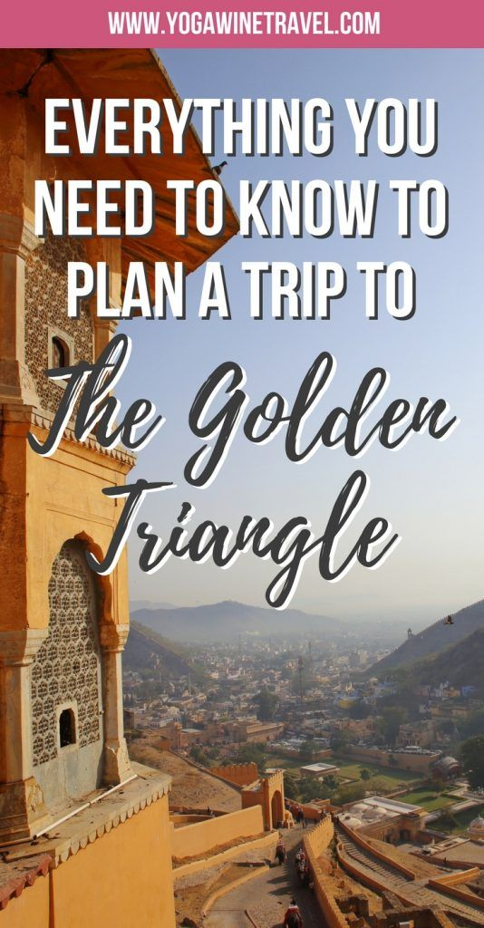 Yogawinetravel.com: The Complete Travel Guide to the Golden Triangle for First Time Visitors to India. India's Golden Triangle is one of the most iconic routes that you can explore in the country and is home to some of its most famous monuments including the Taj Mahal. Read on for the ultimate guide to seeing the major sites in Delhi, Jaipur and Agra in under a week!