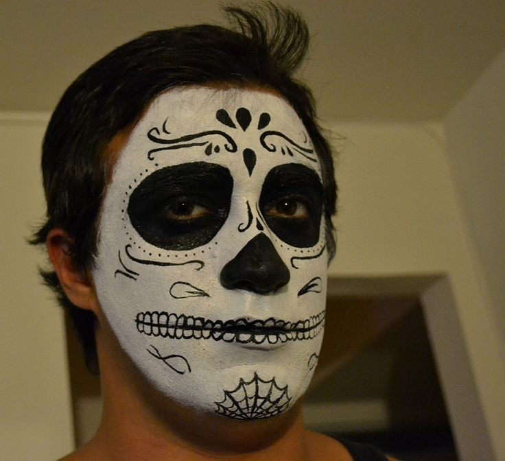 sugar skull makeup men - Google Search | Clever Costumes ...
