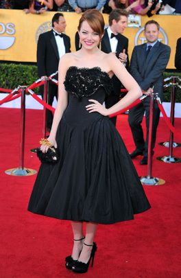 Emma Stone in Alexander McQueen. SAG Awards 2012