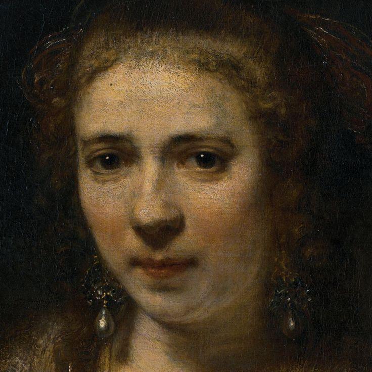 Rembrandt Harmenszoon van Rijn (1606/07-1669): Portrait of Hendrickje Stoffels with a Velvet Beret, 1654, (detail), 74 x 61 cm, Musée du Louvre, Paris, France, source: louvre.fr and...