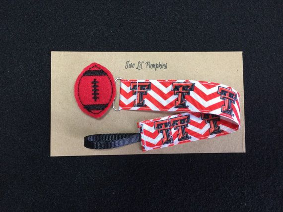 Texas Tech Inspired Universal Pacifier Clip with by TwoLilPumpkins