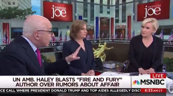 """Fire and Fury"" author Michael Wolff fired back in a Thursday morning tweetstorm after MSNBC host Mika Brzezinski abruptly kicked him off set for denying that he smeared U.N. Ambassador Nikki Haley as having an affair with President Trump."