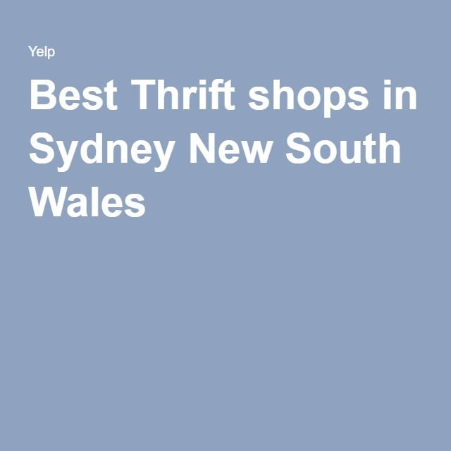 Best Thrift shops in Sydney New South Wales