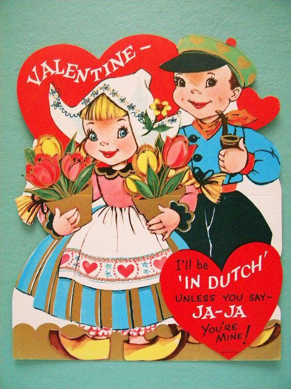 167 best dutch valentine vintage postcards images on