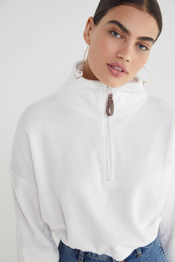 77988a7dd694 UO Angela Fleece Pullover Top in 2019 | CLOTHES | Urban outfitters ...