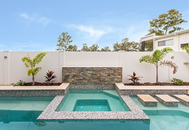 Pool wall with external post tops
