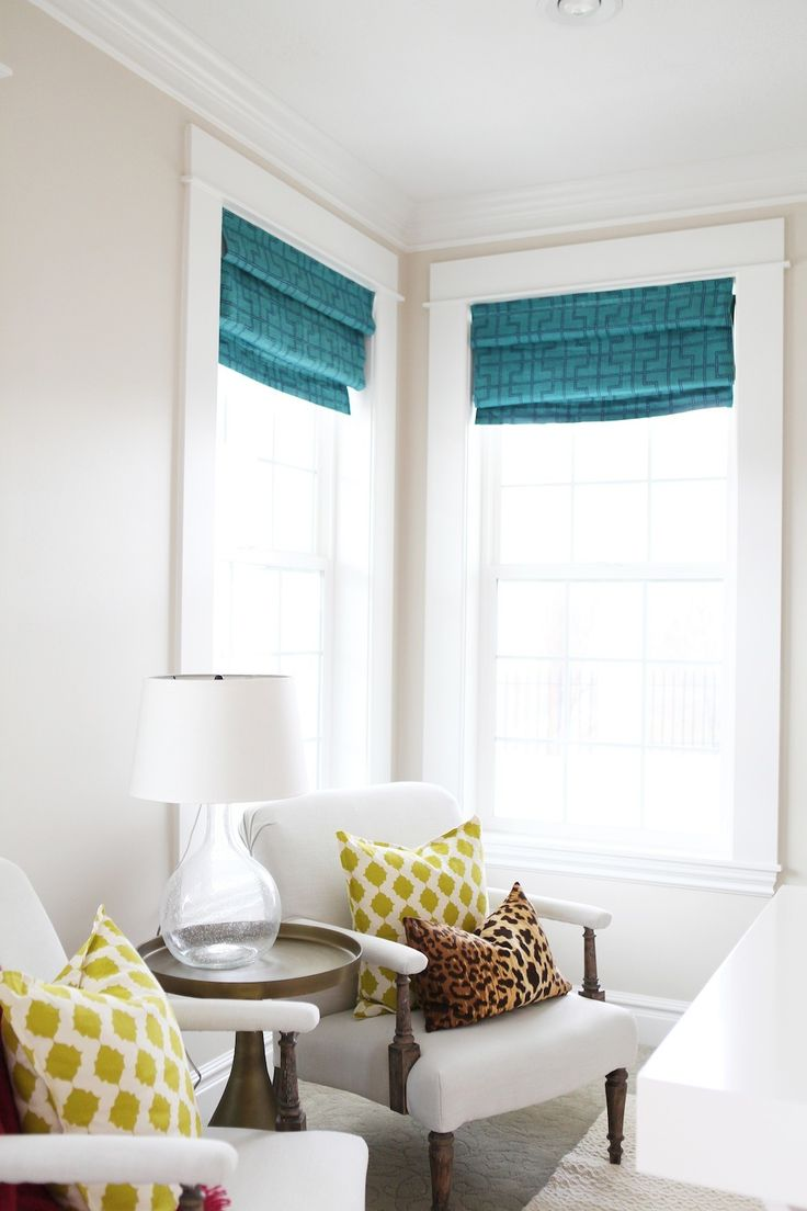 The perfect amount of color | Read More: http://www.stylemepretty.com/living/2014/09/25/bright-living-and-office/