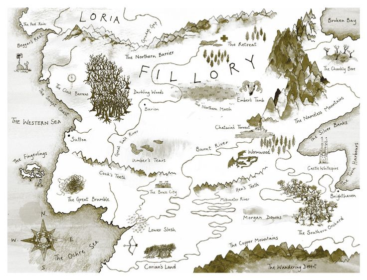Map for Lev Grossman's novel, The Magicians