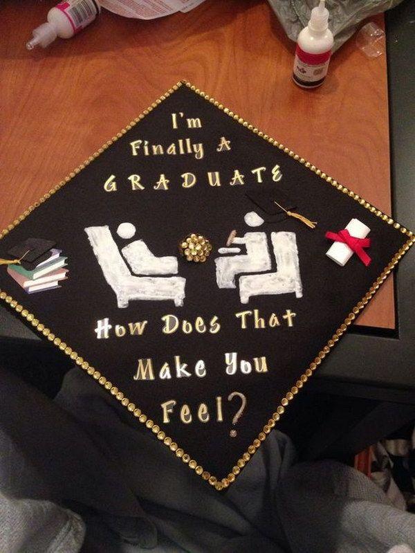Graduation Cap With Psychology Humor.