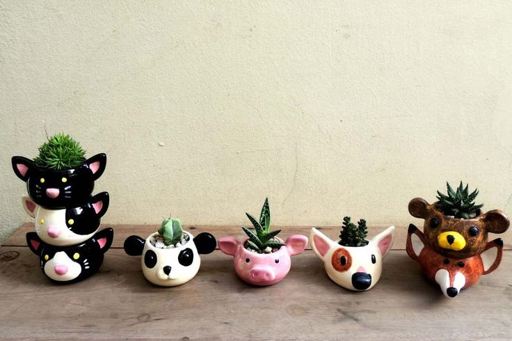Os vasos de bichinhos de Camila Yumi Maruyama | Just Lia