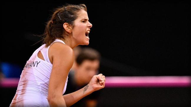 Julia Görges bringt Deutschland beim Fed Cup mit 1:0 gegen die Ukraine in Führung.