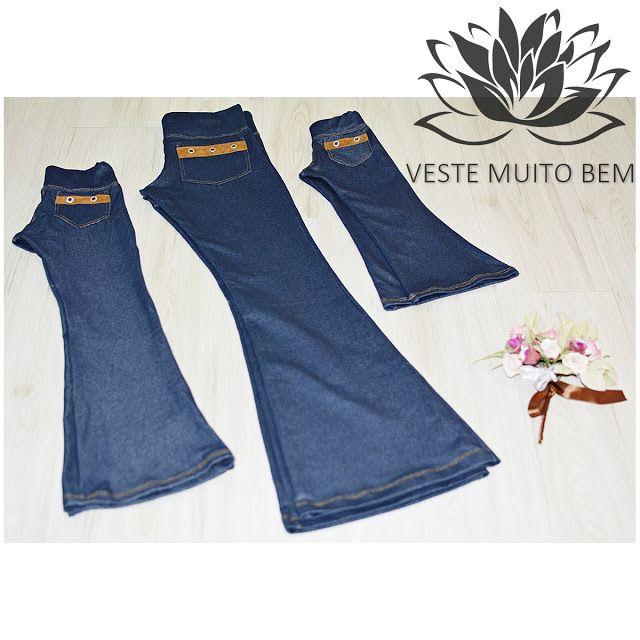NOVIDADE   Calça Flare Malha Jeans Adulto  Calça Flare Malha Jeans Infantil  #vestemuitobem #moda #modafeminina #modaparameninas #estilo #roupas #lookdodia #like4like #roupasfemininas #tendência #beleza #bonita #gata #linda #elegant #elegance