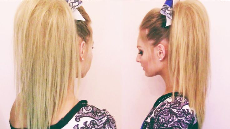 Cheer Hair Tutorial THIS IS EXACTLY HOW I DO MY HAIR......when it's long