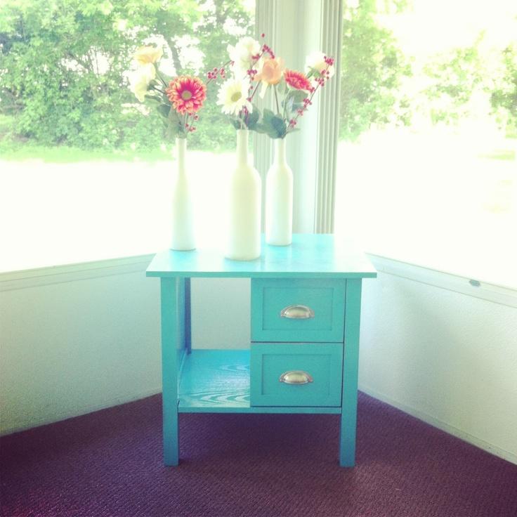 Turquoise Table Valspar Spray Paint Diy Fun
