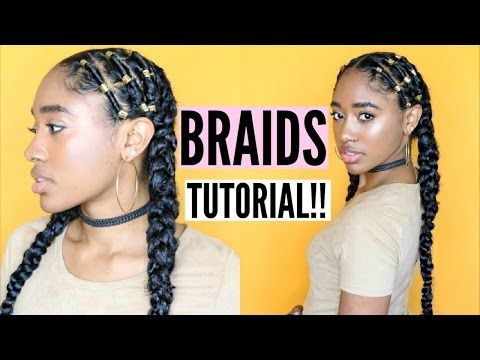Alicia Keys Inspired Protective Style| (Braids W/ Added Hair)! - YouTube