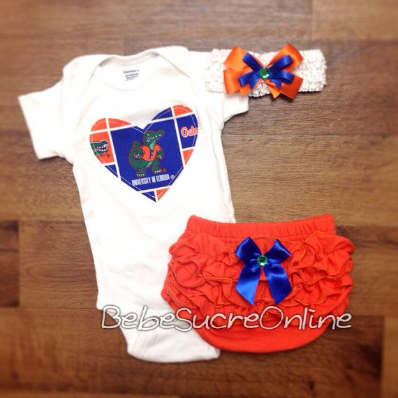 Florida Gators Outfit and Headband on Etsy, $35.00