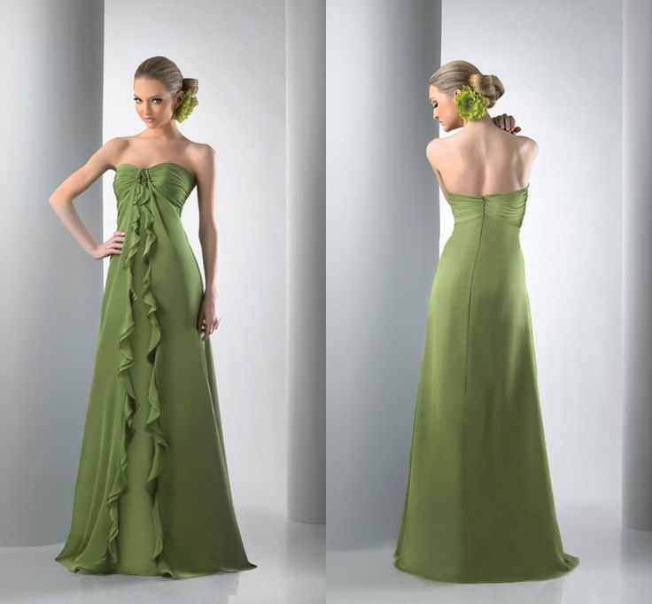 Elegant-Sweetheart-A-line-Long-Chiffon-Green-Bridesmaid-Dress