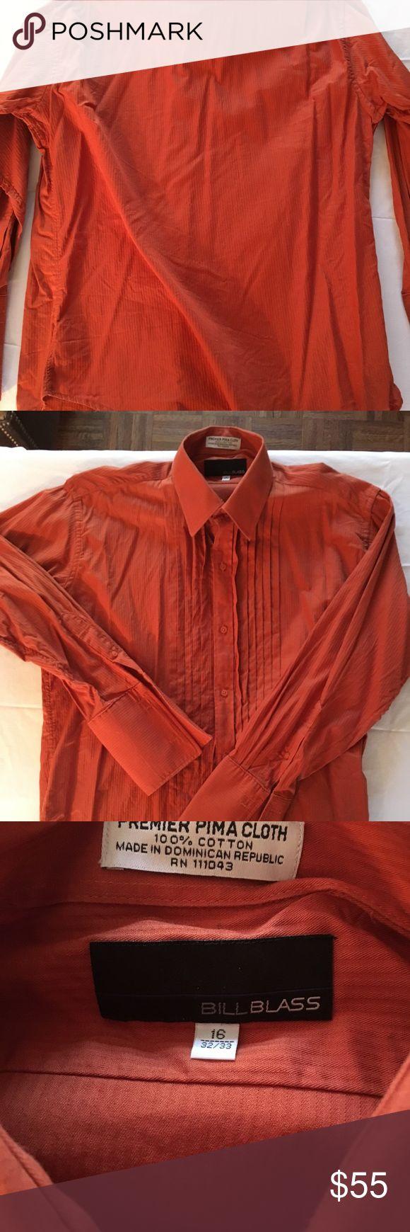 Vintage Bill Blass ruffle tux shirt Great condition. 16 32/33 100% cotton Bill Blass Shirts Dress Shirts