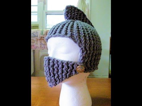The blog link for the written pattern: http://theideasandcreationsfromthemuse.blogspot.com/2014/08/how-to-loom-knit-knights-helmet.html Here is the link to m...