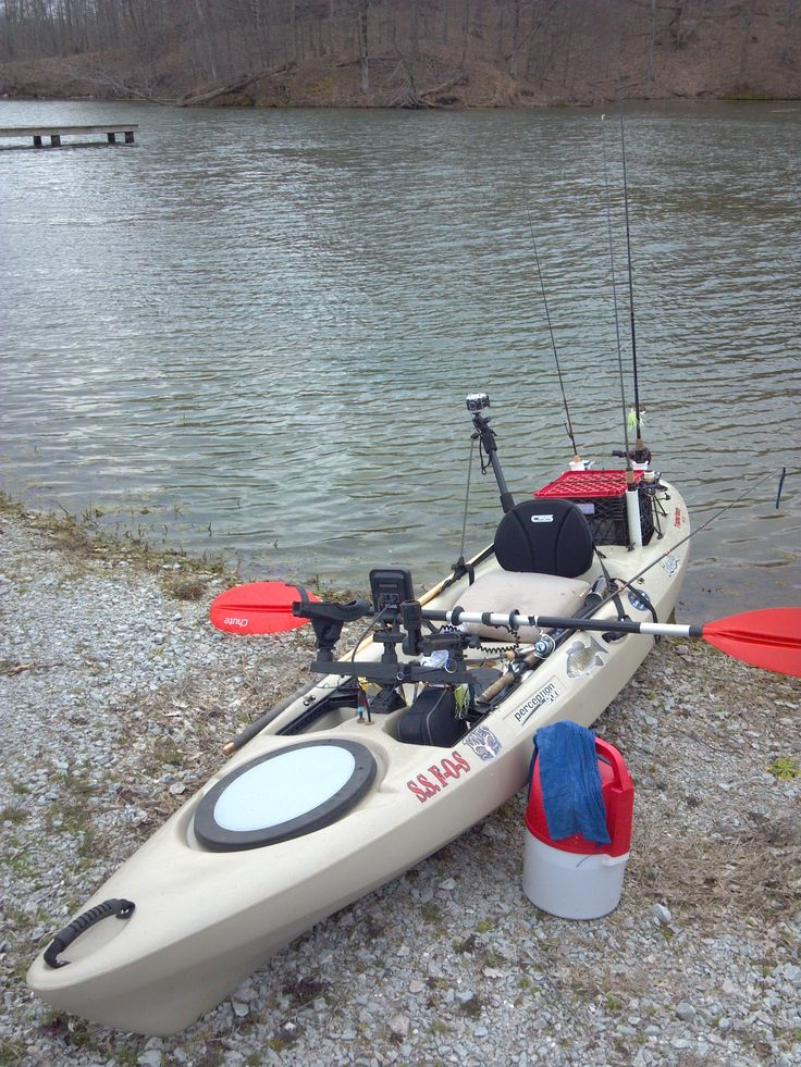 My rigged kayak with action camera and fish finder yak for Fish finders for kayaks