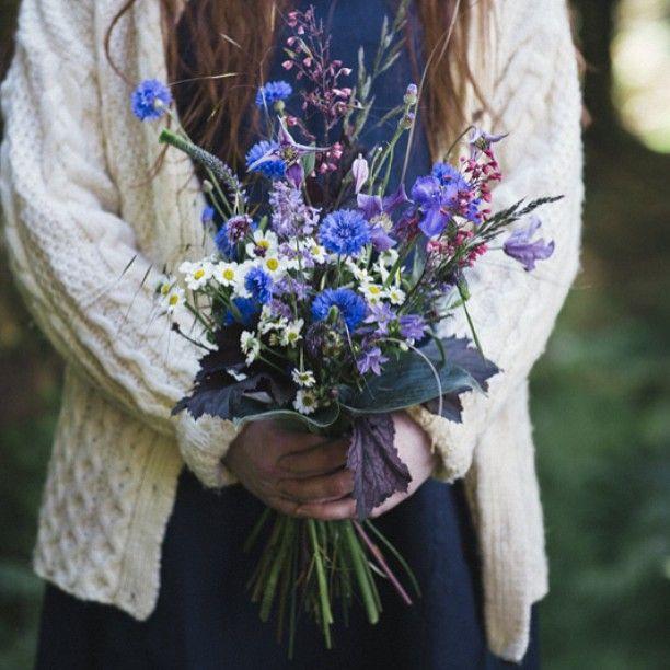A different shot of Sunday's cornflower bouquet #thegardeneditorals #wedding #cornflower #summer #irishgrown