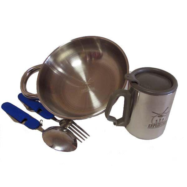 Походный набор 2490 руб. посуды «Источник питания» купить по лучшей цене с доставкой по Москве, Санкт-Петербургу и России