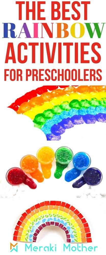 Rainbow Activities For Preschoolers Preschoolers Rainbow Crafts