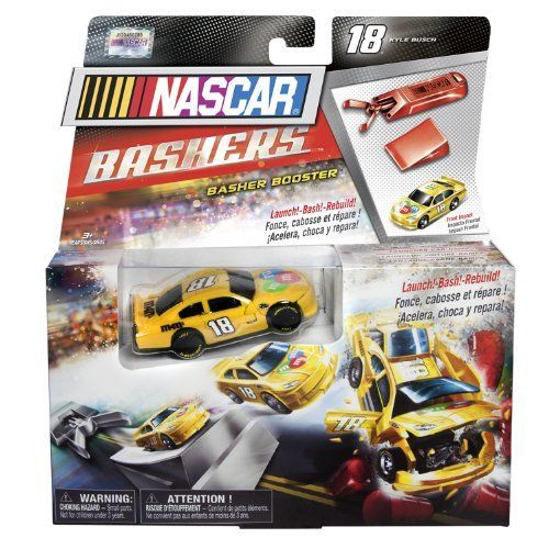 NASCAR - Bashers Basher Booster - #18 M'S Kyle Busch (Joe Gibbs Racing) by NASCAR. $12.95. Launches NASCAR crash cars for intense crashes. The Ultimate Crash Car Accessory. Included are Crash Car Launcher and NASCAR Crash Car. 3 settings available: speed, spin and drift. Amplifies all NASCAR crashes. From the Manufacturer                Amplify the adrenaline of a real NASCAR crash with the all-new Crash Car Launcher. Launch your Crash Cars at intense speeds and ...