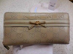 3d764f74c7f Gucci Gucci XL  Mayfair  zip around checkbook size wallet