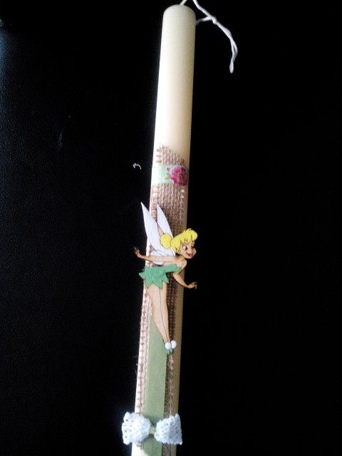 Chrysa Chidiroglou - easter candle tinkerbell - πασχαλινη λαμπαδα