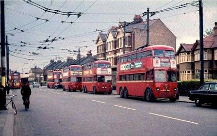 Of course, trolleys could not overtake each other, and if there was a power…