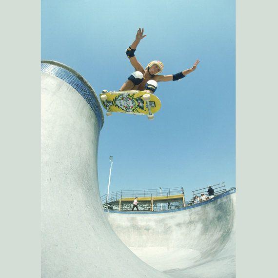 "80s Skate Photo - Mike Smith Acid Drop Eighties Skateboarding Photograph 16x20"" Print - Grant Brittain Skate Photo Print"