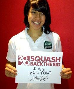 Nicol David of Malaysia, backs the bid