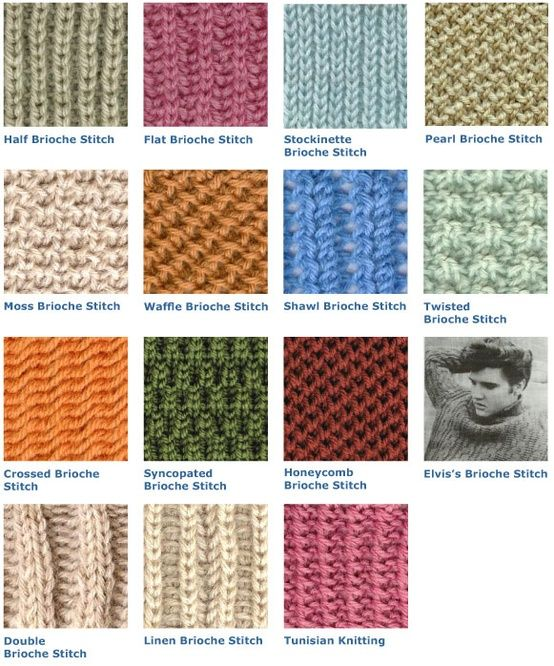 Knitting With Two Colors Continental : Brioche stitch variations image knit