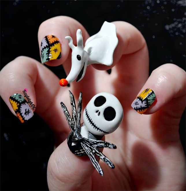 The Nightmare Before Christmas - Nail Art