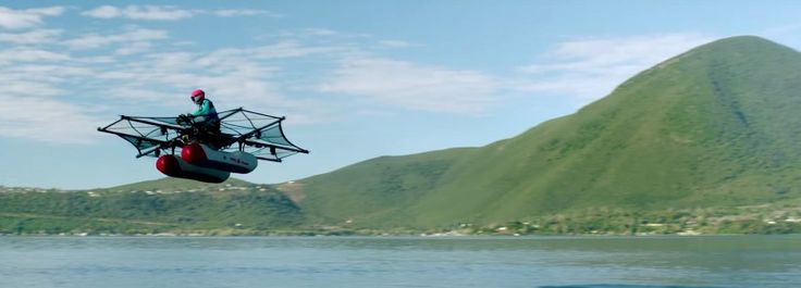 designed to be flown over water, kitty hawk's ultralight aircraft has two pontoons at the bottom, and eight rotors that power the octocopter up into the sky.