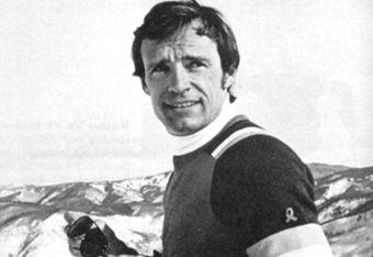 Alpine skier, Jean-Claude Killy in the 1968 Winter Olympics, Grenoble, http://www.rendezvousenfrance.com/ #France #JO #ski