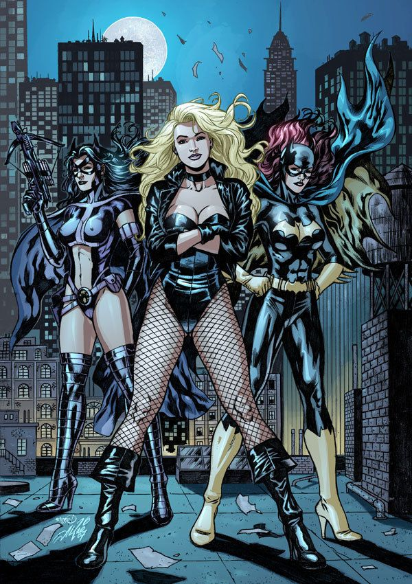 Black Canary-Batgirl-Huntress