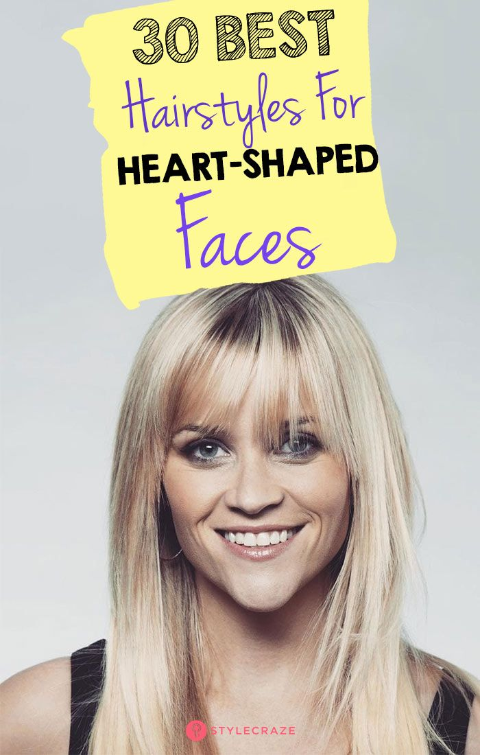 30 Best Hairstyles For Heart Shaped Faces Heart Shaped Face